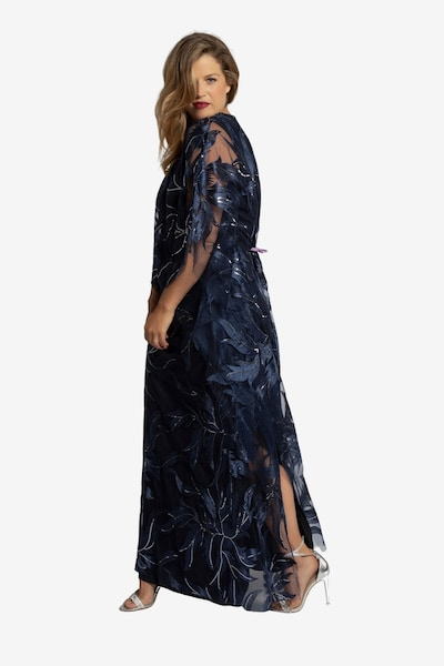 Ulla Popken Abendkleid in blau, Modelansicht