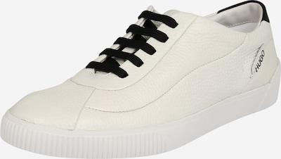 HUGO Baskets basses 'Zero Wave' en noir / blanc naturel, Vue avec produit