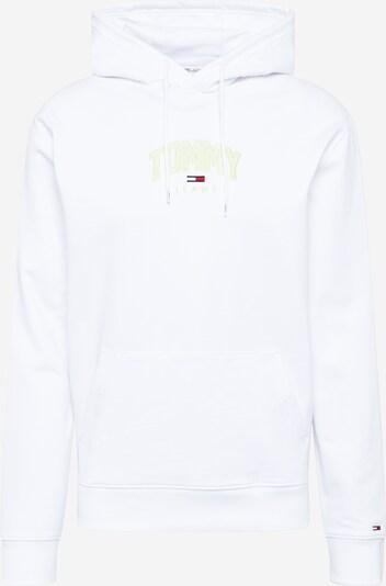Bluză de molton Tommy Jeans pe bleumarin / verde neon / roșu / alb, Vizualizare produs