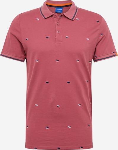 JACK & JONES Shirt 'Logon' in navy / beere / weiß, Produktansicht