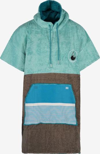 Wave Hawaii Badeponcho ' Tres ' in blau / türkis / braun, Produktansicht