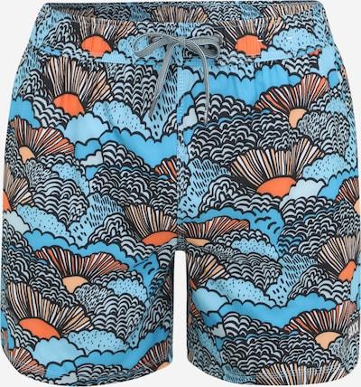 SAXX Športové plavky - spodný diel 'OH BUOY 2N1 VOLLEY 5' - tyrkysová / nebesky modrá / tmavooranžová / čierna / biela, Produkt