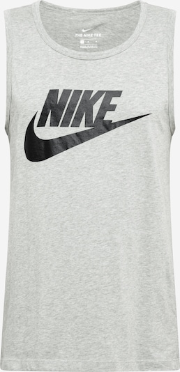 Nike Sportswear T-Krekls raibi pelēks / melns, Preces skats