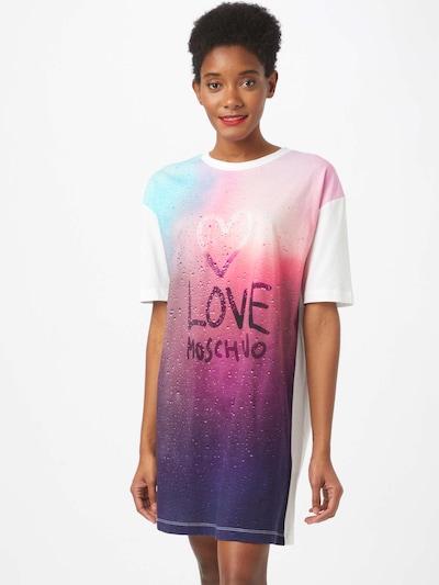 Love Moschino Kleid in aubergine / dunkellila / mischfarben / hellpink / weiß, Modelansicht