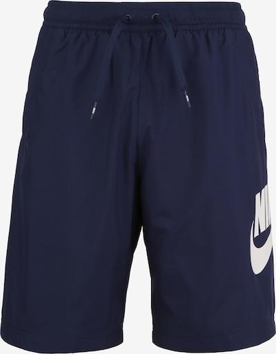 Nike Sportswear Broek 'Woven Hybrid ' in de kleur Marine / Wit, Productweergave