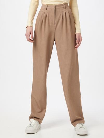 OBJECT Plisované nohavice - béžová, Model/-ka