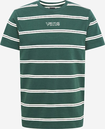 VANS Majica 'SIXTY SIXERS' u zelena melange / bijela: Prednji pogled
