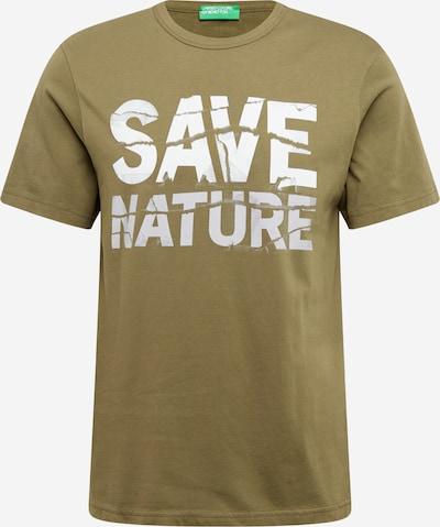 UNITED COLORS OF BENETTON T-Shirt in khaki / weiß, Produktansicht