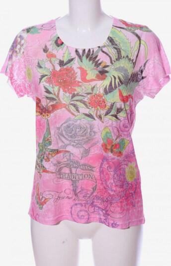 BLUE SEVEN Kurzarm-Bluse in L in grün / pink, Produktansicht