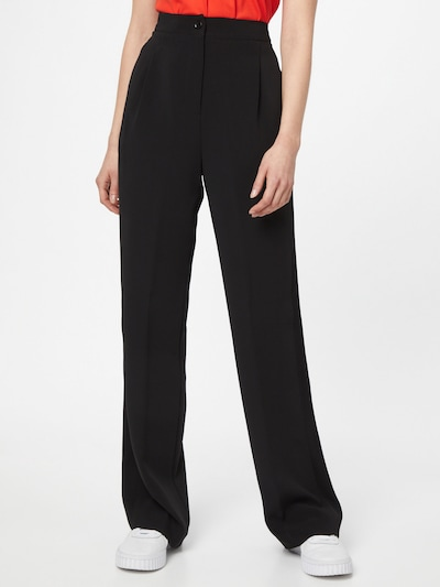Calvin Klein Pleat-front trousers in Black, View model