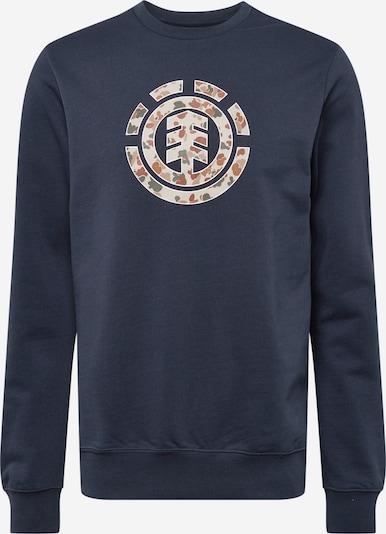 ELEMENT Sportsweatshirt in sand / navy / braun / khaki, Produktansicht
