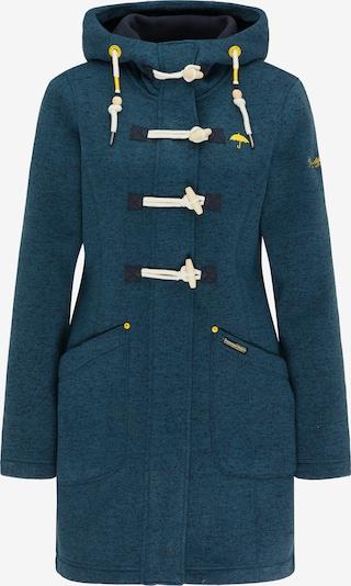 Demisezoninis paltas iš Schmuddelwedda , spalva - nakties mėlyna / geltona / benzino spalva / balta, Prekių apžvalga
