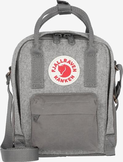 Fjällräven Tasche 'Kånken' in grau / hellgrau / rot / weiß, Produktansicht