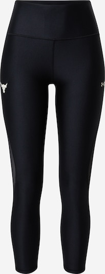 Pantaloni sport 'Prjct Rock' UNDER ARMOUR pe negru / alb, Vizualizare produs