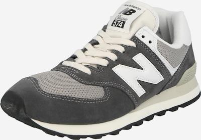 new balance Baskets basses '574' en graphite / gris chiné / blanc, Vue avec produit
