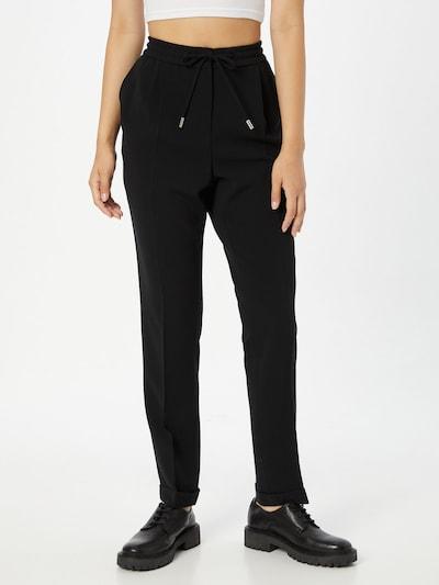 fekete BOSS Élére vasalt nadrágok 'Tariyana9', Modell nézet