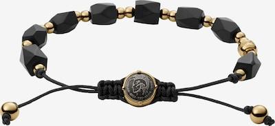 DIESEL Armband in gold / schwarz, Produktansicht
