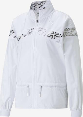 PUMA Athletic Jacket in White