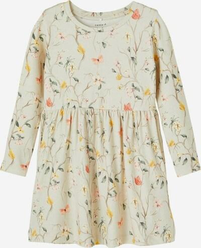NAME IT Kleid in beige / gelb / dunkelgrün / pfirsich, Produktansicht