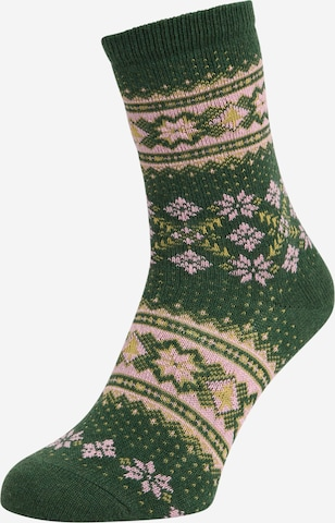 FALKE Sokid 'Winter Holiday', värv roheline