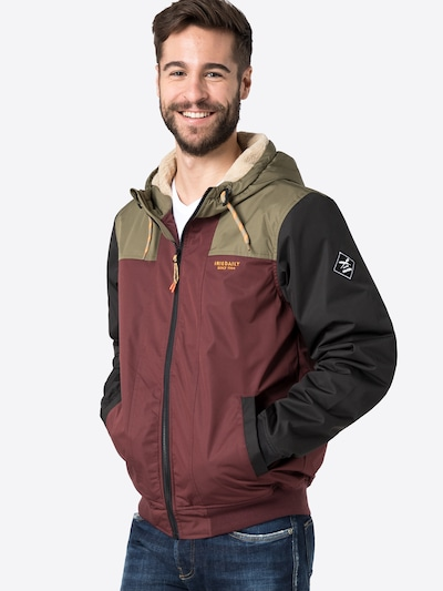Iriedaily Jacke in creme / braunmeliert / khaki / schwarz: Frontalansicht