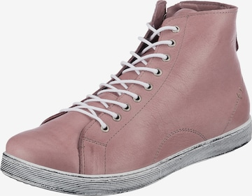 ANDREA CONTI High-Top Sneakers in Pink