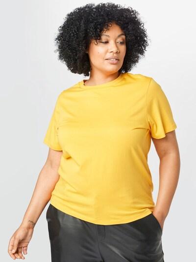 Selected Femme Curve Tričko 'PERFECT' - zlatě žlutá: Pohled zepředu