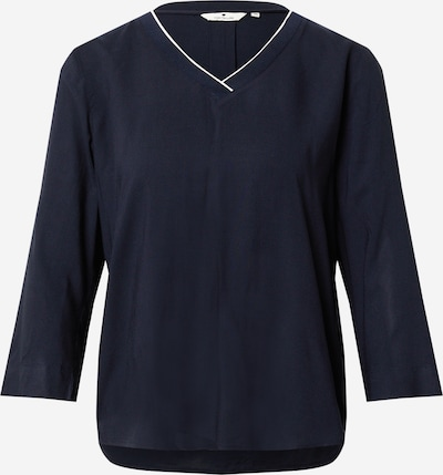TOM TAILOR Bluse in dunkelblau / weiß, Produktansicht