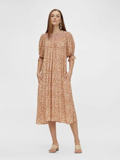 Y.A.S Robe en marron / or / rose ancienne, Vue avec modèle
