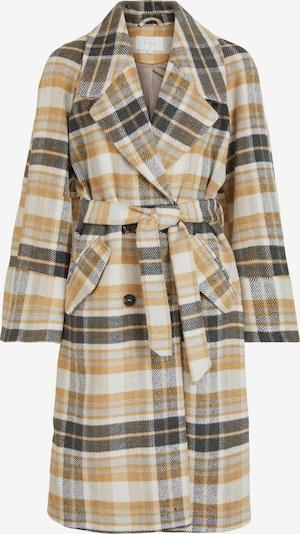 VILA Mantel 'Keita' in dunkelgelb / dunkelgrün / weiß, Produktansicht