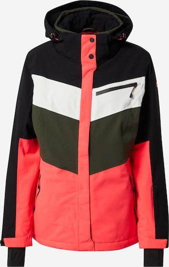 KILLTEC Skijacke in khaki / hellpink / schwarz / weiß, Produktansicht