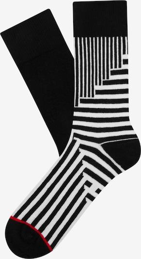 Cheerio Socken 'Jolly' in schwarz / weiß, Produktansicht