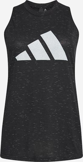 ADIDAS PERFORMANCE Sports Top 'WINNERS 2.0' in mottled black / White, Item view
