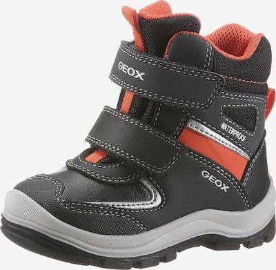 GEOX Stiefel in grau / orange / schwarz, Produktansicht