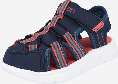 KAPPA Chaussures ouvertes 'KYOKO' en bleu marine / corail, Vue avec produit