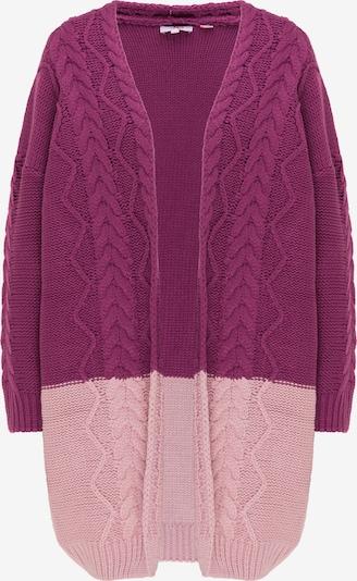 MYMO Gebreid vest in de kleur Aubergine / Lichtlila, Productweergave