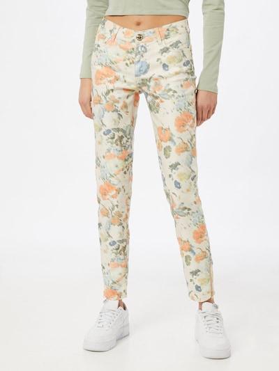 MOS MOSH Hose 'Victoria Dazzle' in rauchblau / hellblau / grün / apricot / weiß, Modelansicht