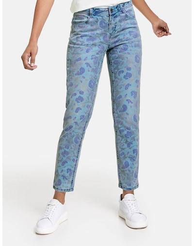 TAIFUN Skinny Jeans mit Print in blau / hellblau / cyclam, Modelansicht