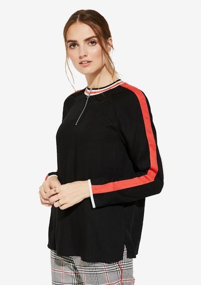 COMMA Bluse in rot / schwarz / weiß, Modelansicht