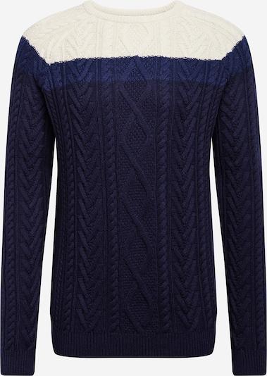 ESPRIT Pullover in dunkelblau / weiß, Produktansicht