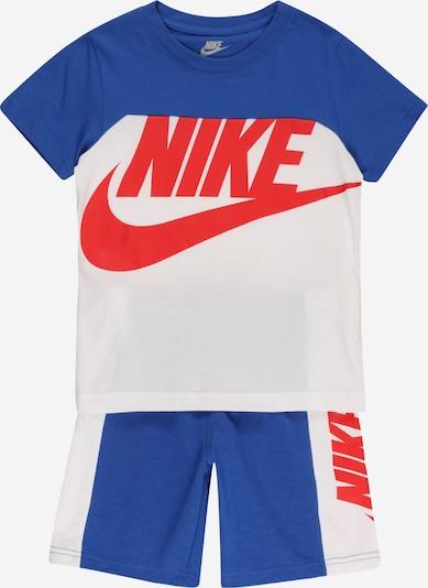 Set Nike Sportswear pe albastru închis / roșu orange / alb, Vizualizare produs