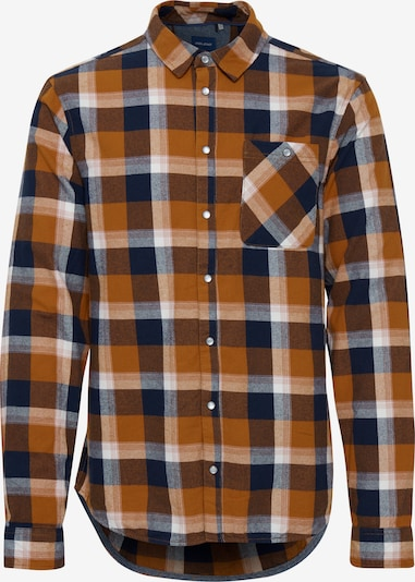 BLEND Langarmhemd in orange / schwarz / weiß, Produktansicht