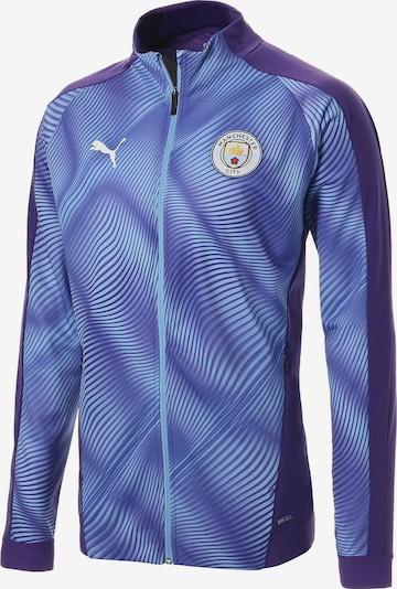 PUMA Jacke 'Manchester City FC' in blau / dunkellila, Produktansicht