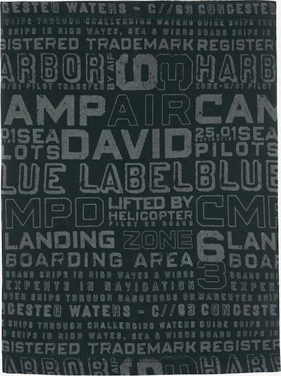 CAMP DAVID Loop-Schal mit Used Print in schwarz, Produktansicht