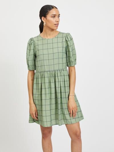 VILA Kleid 'Ranka' in dunkelblau / hellgrün, Modelansicht