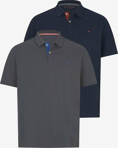 TOM TAILOR Men + Poloshirt in dunkelblau / dunkelgrau, Produktansicht