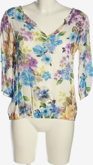 ZARA Langarm-Bluse in S in blau / pastellgelb / weiß, Produktansicht
