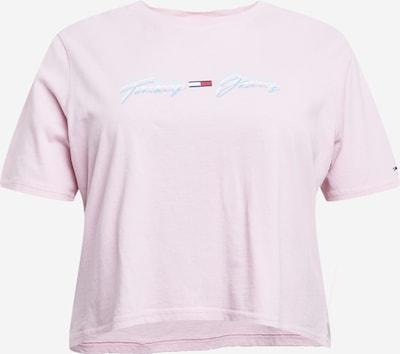 Tommy Jeans Curve T-shirt en bleu / rose pastel / rouge, Vue avec produit
