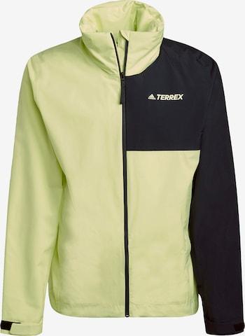 adidas Terrex Regenjacke 'Primegreen Two-Layer' in Gelb