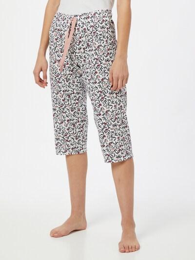 CALIDA Pantalon de pyjama 'Favourites Dreams' en poudre / violet rouge / noir / blanc: Vue de face